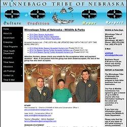 Winnebago Tribe of Nebraska - Wildlife & Parks