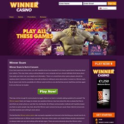 Winner Scam Is Not A Concern