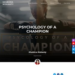 Are winners born or made? Mindset of A Champion