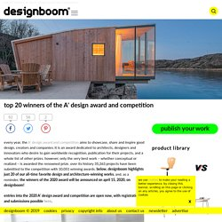top 20 winners of the A' design award and competition