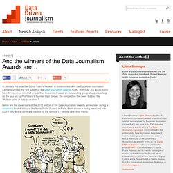 And the winners of the Data Journalism Awards are…