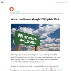 Winners and Losers: Google SEO Update 2016