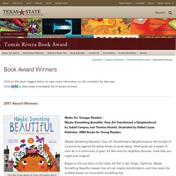 Book Award Winners : Tomás Rivera Book Award : Texas State University
