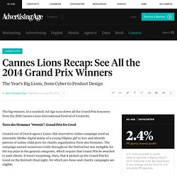 Cannes Lions Recap: See All the 2014 Grand Prix Winners