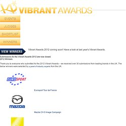 Winners - Vibrant Awards 2011