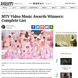 VMA 2016 Winners List: MTV Video Music Awards [UPDATED]