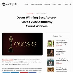 1929 to 2019 Academy Awards Male