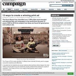 13 ways to create a winning print ad