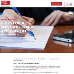 6 Tips for a Winning Rental Application