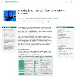 Winning in IoT: Boston Consulting
