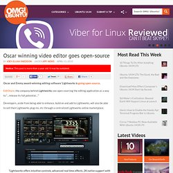 Oscar winning video editor goes open-source