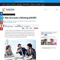 11 Tips To Create a Winning LMS RFI