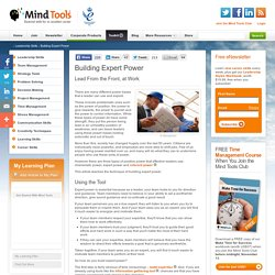 Winning Expert Power - Leadership Skills from MindTools.com