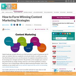How to Form Winning Content Marketing Strategies