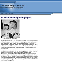 50 Award Winning Photographs top 10 lists picture pulitzer