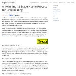A #winning 12 Stage Hustle Process for Link Building