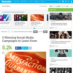 5 Winning Social Media Campaigns to Learn From