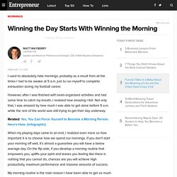 Winning the Day Starts With Winning the Morning