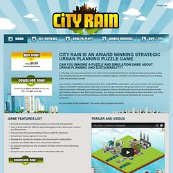 City Rain - Award Winning Strategic Urban Planning Puzzle Game