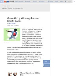 Game On! 5 Winning Summer Sports Books
