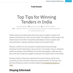 Latest Tips for Winning Tenders in India