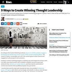9 Ways to Create Winning Thought Leadership