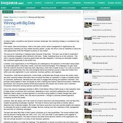 Winning with Big Data