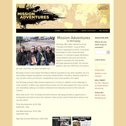 YWAM Winnipeg - Mission Adventures Network