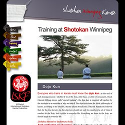 Winnipeg Shotokan Karate