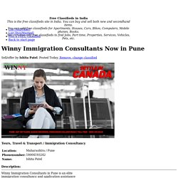 Winny Immigration Consultants Now in Pune