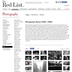 Winogrand, Garry : Photography, History