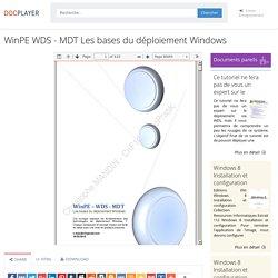 WinPE WDS - MDT Les bases du déploiement Windows - PDF
