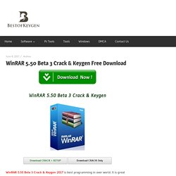 WinRAR 5.50 Beta 3 Crack & Keygen Free Download