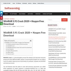 WinRAR Crack 2020 + Keygen Free Download