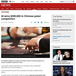 AI wins $290,000 in Chinese poker competition