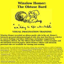 Winslow Homer: The Obtuse Bard