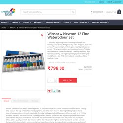 Winsor & Newton 12 Fine Watercolour Set - PAINTS