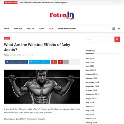 What Are the Winstrol Effects of Achy Joints? - fotonin