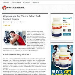 Where can you Buy Winstrol Online? Oral + Injectable Sources