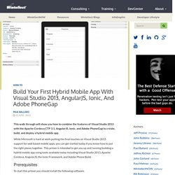Build Your First Hybrid Mobile App with Visual Studio 2013, AngularJS, Ionic, and Adobe PhoneGap - Wintellect DevCenterWintellect DevCenter