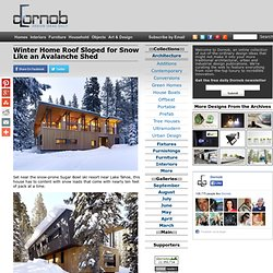 Winter Home Roof Sloped for Snow Like an Avalanche Shed