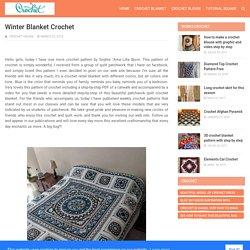 Winter Blanket Crochet - CROCHET WORKS