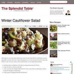 Winter Cauliflower Salad