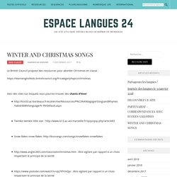 WINTER AND CHRISTMAS SONGS – Espace langues 24