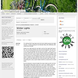 Winter Lights « CityCyclingEdinburgh Forum
