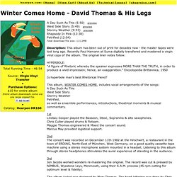 Winter Comes Home - David Thomas & His Legs