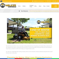 5 End-of-Winter Tips to Keep Your Commercial Lawn Mowing Business Busy