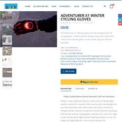 Turn Signal Cycling Gloves
