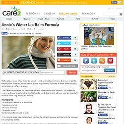Annie's Winter Lip Balm Formula