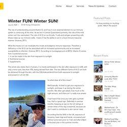Winter FUN! Winter SUN!